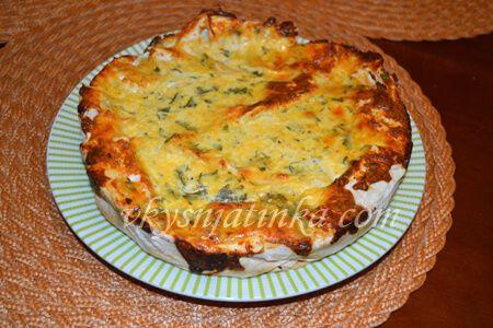 Пирог из лаваша с сыром в духовке - фото