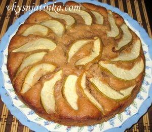 Пирог с грушами - фото