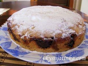 Пирог с инжиром - фото