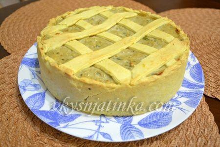 Пирог с курицей и баклажанами - фото