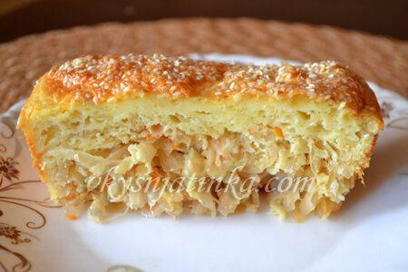 Пирог с квашеной капустой - фото
