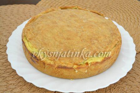 Пирог с шампиньонами - фото