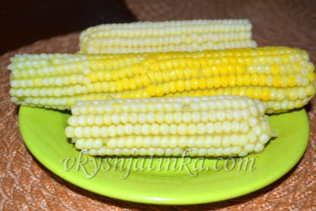Початок вареной кукурузы - фото