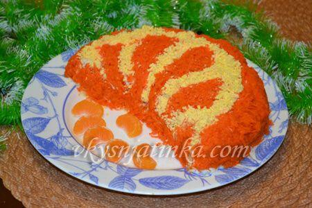 Салат «Апельсиновая долька» - фото