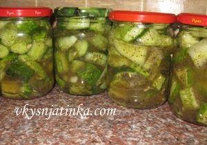 Салат из огурцов на зиму - фото