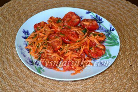 Салат из помидоров по-корейски - фото