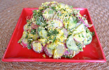 Салат из редиски и яйца - фото