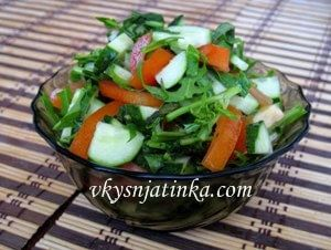 Салат из рукколы - фото