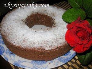 Шоколадно-банановый кекс - фото
