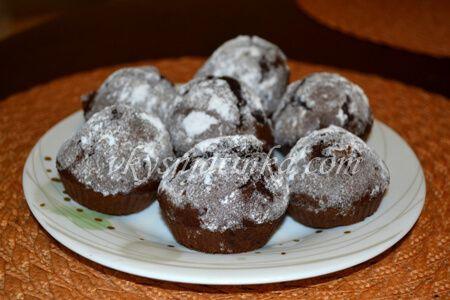 Шоколадные кексики - фото
