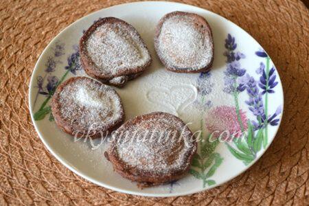 Шоколадные оладьи на кефире - фото