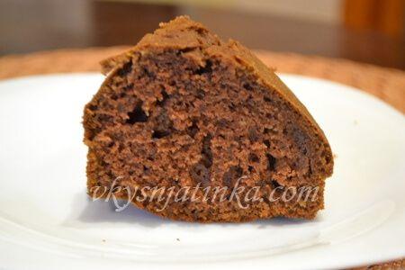 Шоколадный кекс на кефире в духовке - фото