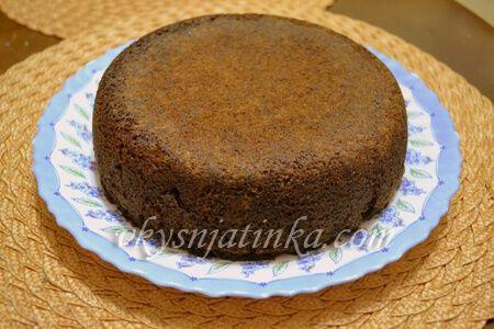 Шоколадный кекс в мультиварке - фото