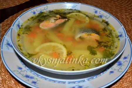 Рыбный суп из хвоста форели - фото