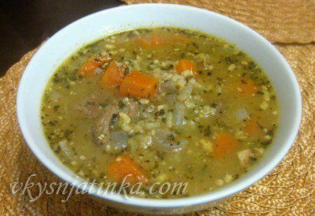 Классический суп харчо из говядины с рисом - фото
