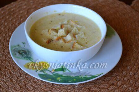 Суп-пюре из кабачков с курицей - фото