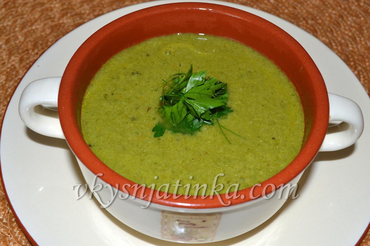 Суп-пюре из шпината и курицы - фото