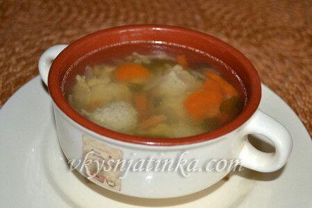 Вкусный суп с фрикадельками в мультиварке - фото