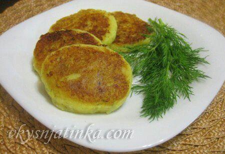 Сырники с картофелем - фото