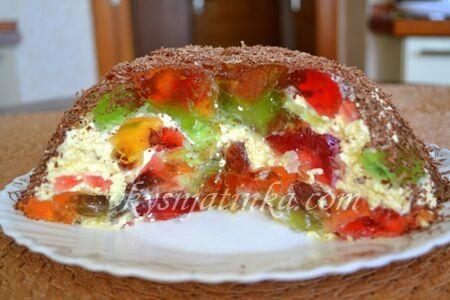 Торт «Битое стекло» - фото