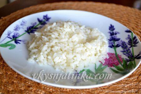 Рассыпчатый тушеный рис в мультиварке на воде - фото