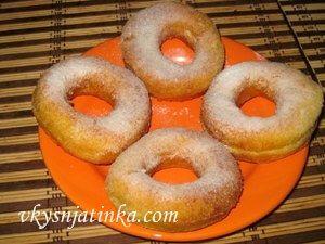 Творожные пончики - фото