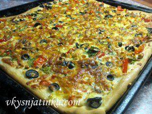 Вегетарианская пицца - фото