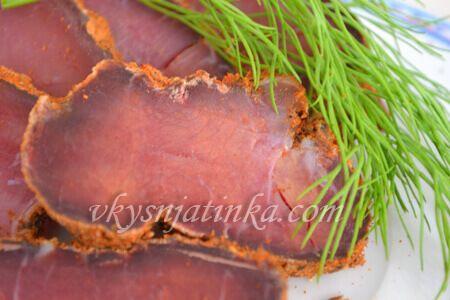 Вяленая свинина в домашних условиях - фото