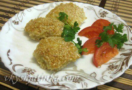 Жареная рыба с сыром - фото